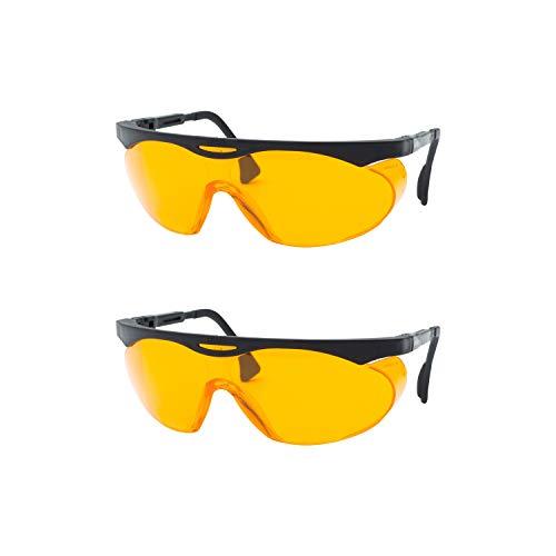 Uvex Skyper Blue Light Blocking Computer Glasses with SCT-Orange Lens S1933X, (Pack of 2)