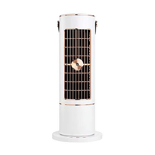 SJZD Ventilador de Escritorio con humidificación por pulverización, Ventilador sin aspas USB, Ventilador de Torre de humidificación, Aire Acondicionado con refrigeración Turbo sin aspas (Dorado)