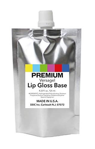 DDCI Versagel Lip Gloss Base Clear (4.23 Fl. oz, 125 ml.) for DIY Beauty and Cosmetics MADE IN U.S.A.