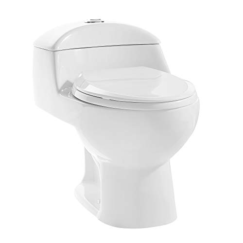 Swiss Madison Well Made Forever SM-1T803 Chateau One Piece Toilet, Glossy White