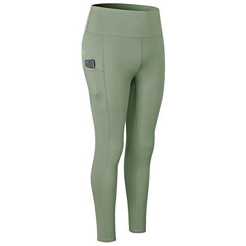 Anoauit Leggings de Yoga para Mujer, Pantalones de Yoga para Mujer Tornillo de Cintura Altas Cortas de la Cintura Corta Pantalones Cortos Mallas Sexis para Control De Abdomen-Verde_Medio