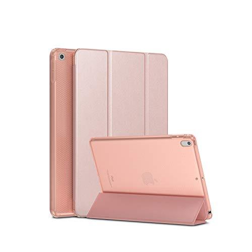 SmartDevil Funda para iPad 9,7 Pulgadas 2018/2017, Funda para iPad 6 / Funda para iPad 5 con Auto-Sueño/Estela y Soporte, Ligera Carcasa para el iPad 6/5 Generación con Tapa Inteligente, Oro Rosa