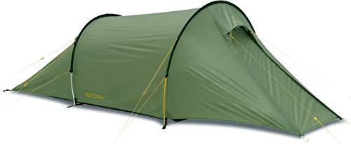 Nordisk Unisex_Adult Trekkingzelt Halland 2 Pu Trekking Tent, Green/Dusty Green, 350 x 150 x 110 cm