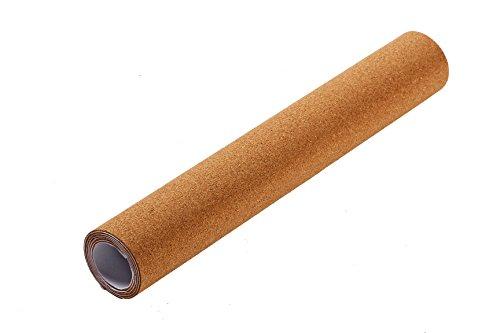 Rollo de cartón de corcho autoadhesivo para tableros de anuncios, para pared, natural