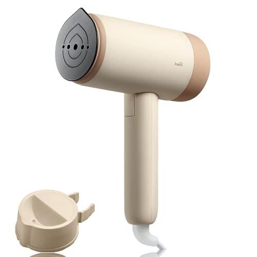 Kexi H2 Dampfglätter, 1200 W Garment Steamer Dampfglätter, faltbare Dampfbürste mit Geschenkkarton, horizontales & vertikales Reisebügeleisen Dampf mini, für Haushalt & Urlaub (Rosa)