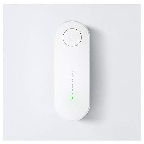 FLYM Negativo Purificador De Aire Iónico, Doméstica Pequeña No Consumible Humo De Segunda Mano PM 2,5 Desodorante para Lavabos Y Cocinas, 110-220V, 11.3 * 4 * 2.6Cm,Blanco