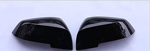 YANGLY 1 par de tapas de repuesto para espejo retrovisor de fibra de carbono para BMW F10 F11 2014 2015 2016 2017 espejos retrovisores de coche (color: negro brillante)