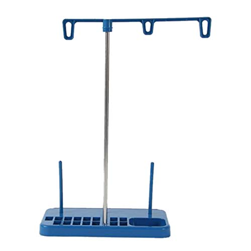 Timagebreze Soporte Especial para Carrete de Hilo/Algodón Tres Soportes de Cono para Máquinas de Coser 31X21Cm -Azul