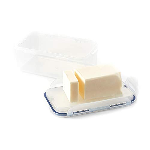 LOCK & LOCK Easy Essentials Food Storage lids/Airtight containers, BPA Free, Butter-25 oz, Clear