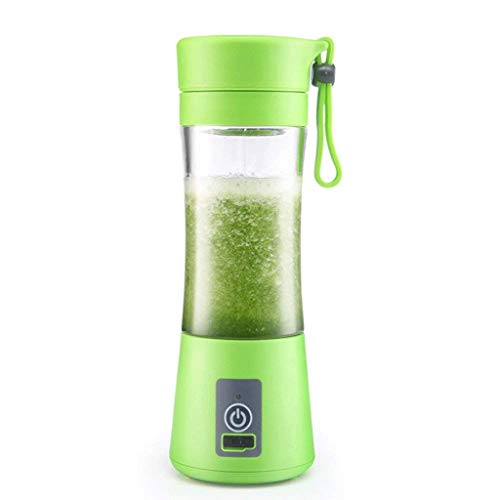 ECSWP Portable Juicer Cup Blender, Mini Juice Mixer with Updated,Baby Food Mixing Machine (Color : Green)