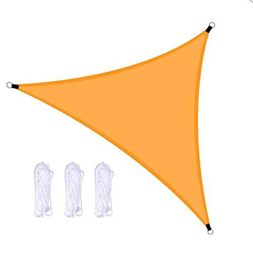 QWESHTU Toldo Vela de Sombra triángulo, protección 98% UV y Transpirable Impermeable, para Jardín, Patio, Exteriores, Pergola Decking