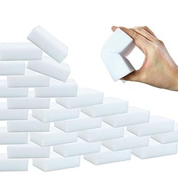 YoleShy 50 Pcs Sponge Eraser Foam Cleaning Pads Premium Melamine Sponges in Bulk for Leather Handbag Bathtub Floor Baseboard Bathroom Wall Cleaner