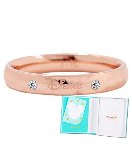 ディズニー リング 指輪 サージカルステンレス 316L 24金加工 スワロフスキー サージカル メンズ 9号 結婚指輪 ペアリング ピンクゴールド PG ステンレス [並行輸入品]