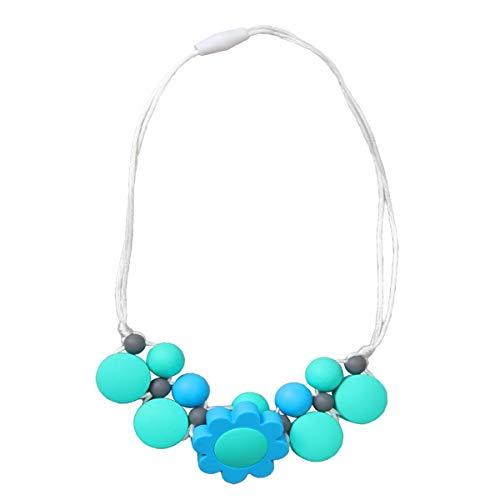 YeahiBaby Collier de Dentition en Silicone Perles Collier de Soins Infirmiers Perles bébé Anneau de Dentition pour Maman Wear Turquoise Vert