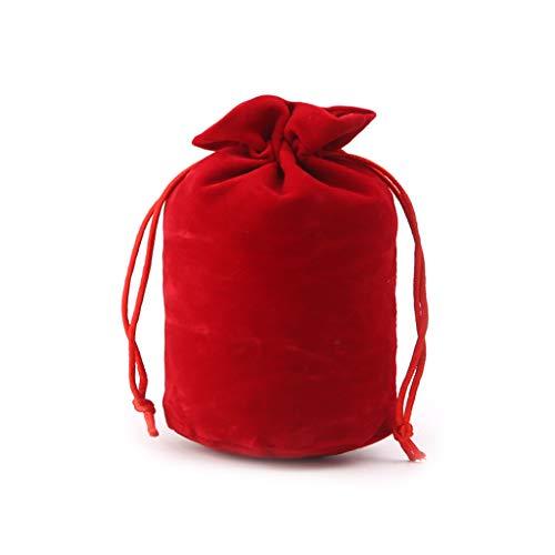 Lamdoo Velvet Dice Bag Schmuckverpackung Kordelzug Brettspiel - Rot