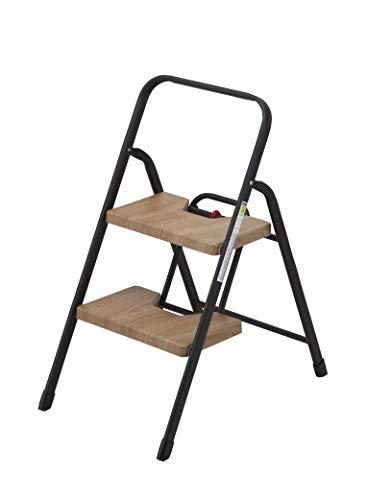シービージャパン 踏み台 折りたたみ 2段 フォールディングステップ 耐荷重100kg 木目調 folding step [7244]