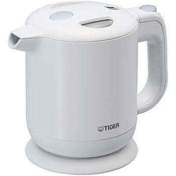 飲みたいときにサッと沸く! TIGER 電気ケトル 0.6L(フッ素加工内容器)ホワイト PFY-A060-WA