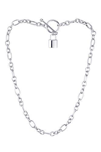 Córdoba Jewels | Gargantilla en Acero con diseño Candado Silver