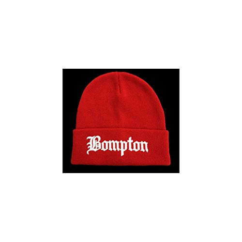 KOOPA SHOP All Season RED Beanie HATBOMPTON White Letters