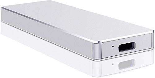Disco duro externo portátil de 2 TB USB 3.1 – Almacenamiento en disco duro externo compatible con PC, ordenador portátil y Mac (2TB, Silver-B)