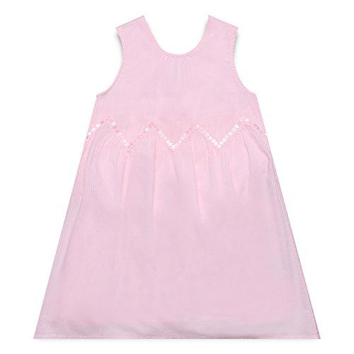 ESPRIT KIDS Mädchen RL3022302 Kleid, Rosa (Pearl Rose 309), 116 (Herstellergröße: 116/122)