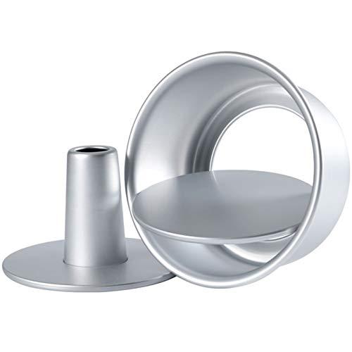 feeilty 6/8 Zoll Aluminiumlegierung Runde Hohle Chiffon Kuchenform Lebensmittel Kuchenformen Backform mit abnehmbarem Boden für die Küche