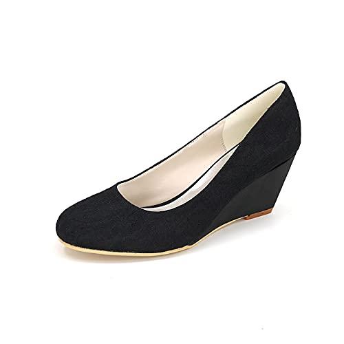 Zapatos De Boda De Cuña Zapatos Cómodos De Dama De Honor De...