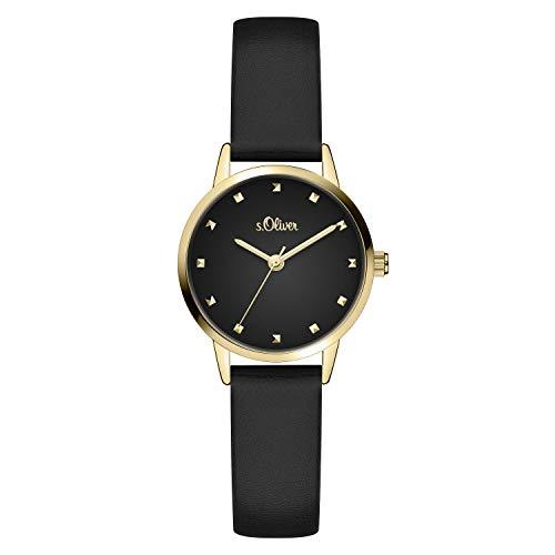 s.Oliver Damen Analog quarz Armbanduhr mit Kunstleder SO-4087-LQ