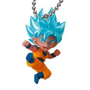 Gashapon Dragon Ball Super UDM (Ultimate Deformed Mascot) Burst 25 Mini Figure : SSGSS Son Gokou (Single)