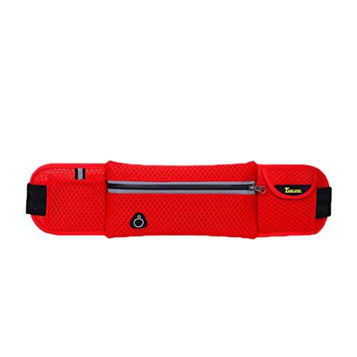 Tclothing - Riñonera Grande para Hombre, Resistente al Agua, con Bolsa para hervir Agua, Unisex, Rojo