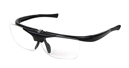SK11 ハネアゲ式老眼保護メガネ 度数+2.0 ブラック SG-HN20