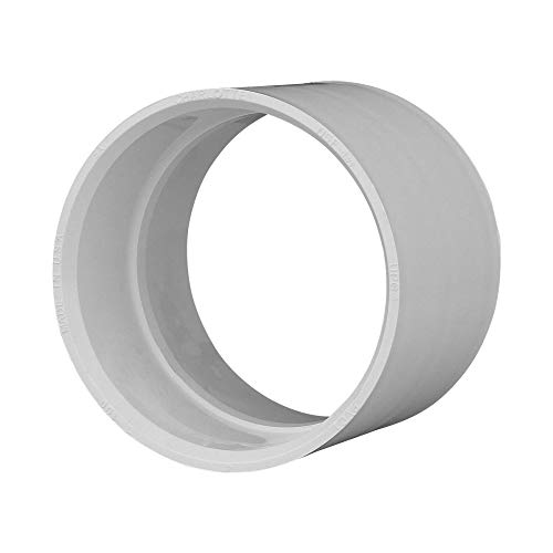 Charlotte Pipe 4' Coupling Pipe Fitting - Schedule 40 PVC DWV (Drain, Waste and Vent) Durable, Easy to Install, High Tensile and Sound Deadening for Home or Industrial Use (Single Unit)