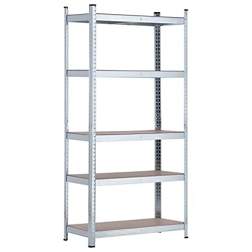 RDM - Estanteria-Galvanizada-Con-5-Baldas-Ajustables-180X90X40-Cm-Rdm-Metaly