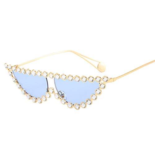 Gafas de sol para mujer Personalizadas Gafas de sol Tendencia Perla Gafas de sol Mujer Ojo de Gato Marco Con Diamante