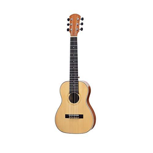 Gitarre30 Zoll Fichte Mini Electric Guitarlele Bariton Reisegitarre Acoustic 6 Saiten Ukulele ( Size : Small )