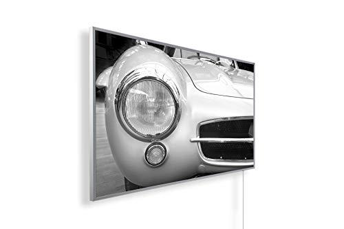 Könighaus Fern Infrarotheizung - Bildheizung in HD Qualität mit TÜV/GS - 200+ Bilder – mit Könighaus Smart Thermostat und APP für IOS/Android - 1000 Watt (243 Pagode Auto)