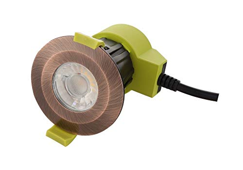Inspired Dlux - Bazi - Dimmable LED Recessed Downlight, Antique Copper, 38 deg. Beam Angle, 800lm, 4000K, IP65, Driver Included