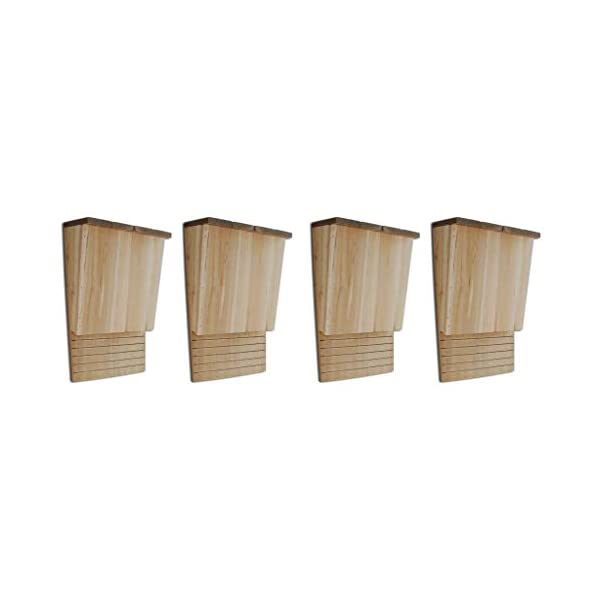 Festnight Set of 4 pcs Bat Houses| Bat Nesting Box| Bat Box, 22x12x34 cm Wood