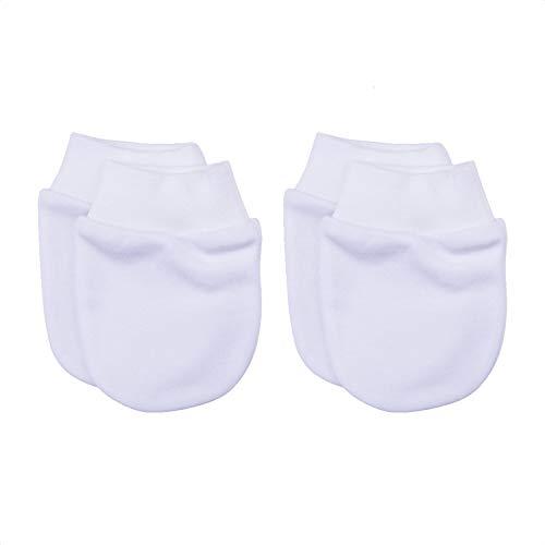 Sevira Kids - Muffole nascita in cotone biologico, confezione da 2 paia bianco Nascita