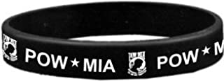 POW MIA Bracelet Rubber Silicone