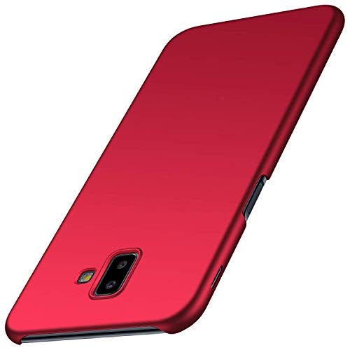 Hoes compatibel met Samsung Galaxy J6 Plus hoes slim fit PC harde schaal beschermhoes anti-vingerafdruk hard case telefoonhoes stijlvol krasbestendig case winkels telefoonbescherming cover