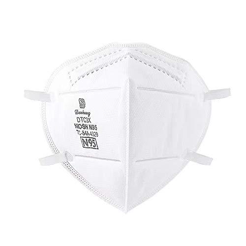N95マスク 1箱20枚 NIOSH承認N95 使い捨て不織布マスク ラテックスフリー 不織布70% メルトブロー不織布30%