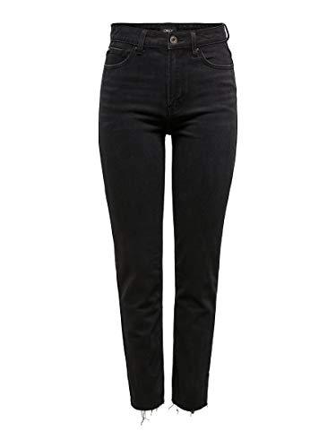 ONLY Damen Straight Fit Jeans ONLEmily HW 3230Black Denim