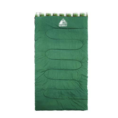 Yiiquanan Innen- und Außenbereich Schlafsack Verdicken Winter Warm Sleeping Bag für Wandern, Camping, Trekking (Armee Grün, 190 * 80cm)