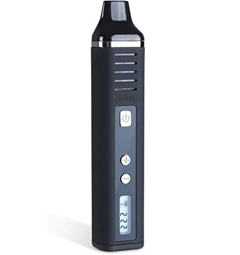 Dry Herb Vaporizer Pathfinder, Portable Herb Vaporiser 2200mAh Battery Full Temperature Control LCD Display Aromatherapy Herbal Evaporator USB Charging Vape, Advanced Temperature (Black)