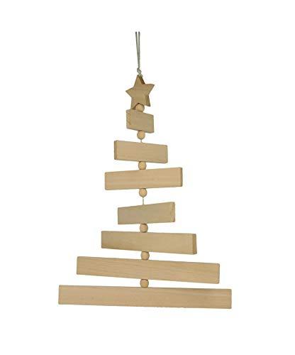 Artemio houten planken kerstboom op te hangen 27,5 x 37cm x 1cm, hout, 29 x 1 x 38 cm