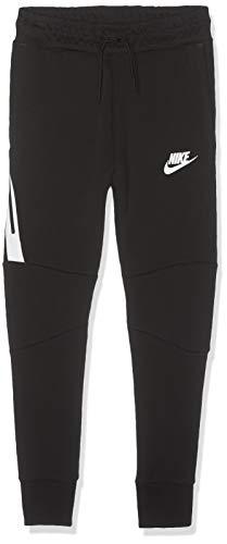Nike Kids Boys TECH Fleece Pants 804818-017 Size XS Black/White