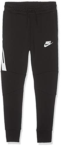 Nike Tech Fleece Pant, Pantaloni Bambino, Nero (Black/White 017), Small