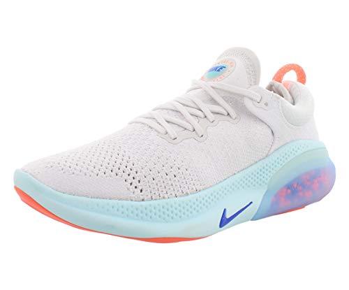 Nike Women's Joyride Run Flyknit Running Shoes (8.5, White/Racer Blue/Platinum Tint)