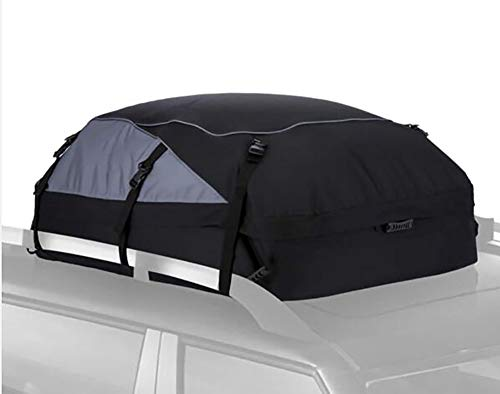 TBBA Foldable Car Roof Box, Waterproof Folding Soft Luggage Storage Roofing Bag for Any Cars NO Rack/Rails/Bars Needed (600D Waterproof Roof Bag)
